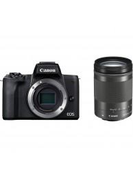 Canon EOS M50 II Aparat Foto Mirrorless 24MP Kit cu Obiectiv EF-M 18-150 IS STM Negru